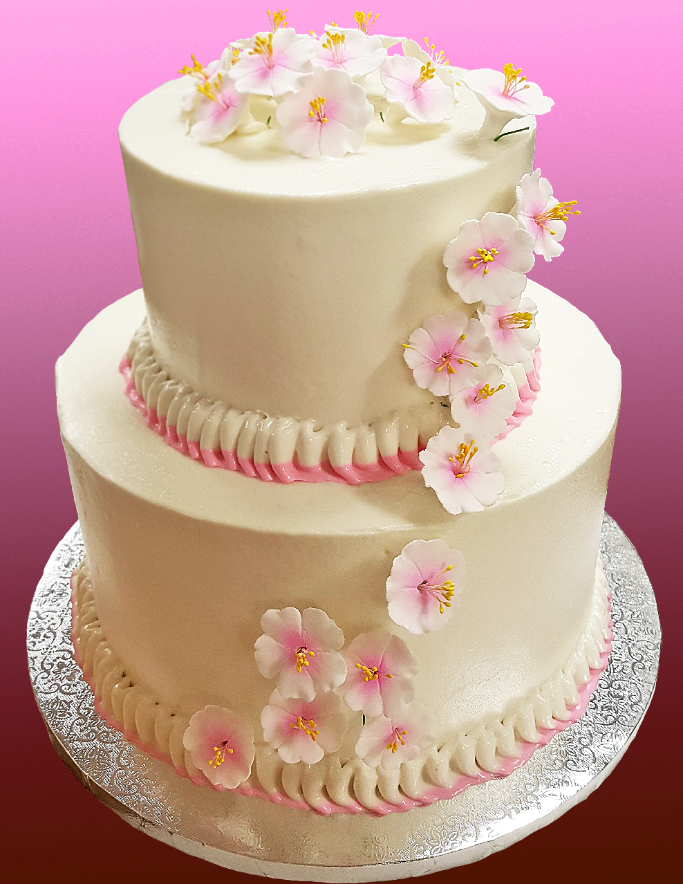 Cherry Blossom Wedding Cake The Patisserie